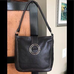 Furla Brown Leather Shoulder Bag Italy
